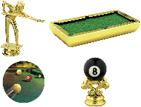 Pool Billiards Trophy Parts