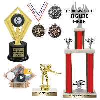 Pool Billiards Trophies and Awards