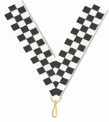 78 X 32 Checkered Flag Neck Ribbon With Snap Clip Neck Ribbons