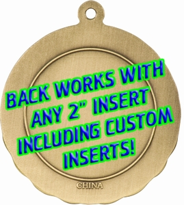 Back View 3D Motion Medal 2 3/4""