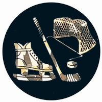 "2"" Black/Gold HOCKEY Mylar"