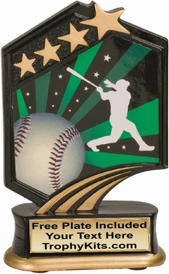 "5.5"" - Baseball Graphic Sport Resin Award"