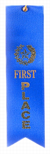 1st Place Blue Award Ribbon with card