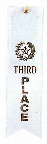 3rd Place White Award Ribbon with card