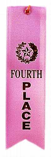 4th Place Pink Award Ribbon with card