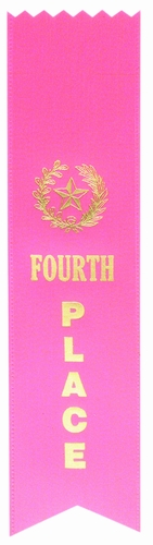 4th Place Pink Pinked Ribbon