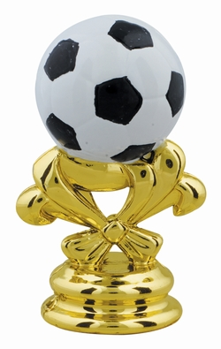 "Gold 2 5/8"" Color Soccer Ball Trim"