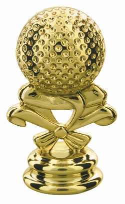"Gold 2-3/4"" Golf Ball Trophy Trim Piece"