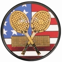 "2"" US Flag Tennis Holographic Mylar Trophy Insert"