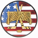 "2"" US Flag Hockey Mylar insert"