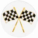 "2"" Racing Flags Mylar Trophy Insert"