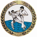 "2"" Hologram Karate Mylar Trophy Insert"