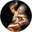"2"" Female Bodybuilding Photo Mylar"