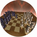 "2"" Chess Photo Trophy Insert"