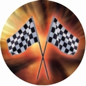 "2"" Checkerd Flag Photo Mylar"