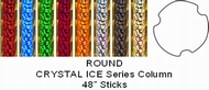 "Round Crystal Ice Trophy Column Full 45"" stick"