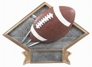 "6"" X 8 1/2"" Football Diamond Trophy Plate Hand Painted"
