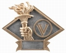 "6"" x 8 1/2"" VICTORY TORCH Diamond Plate"