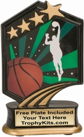 "5.5"" - Basketball Graphic Sport Resin Award"