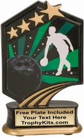 "5.5"" - Bowling Graphic Sport Resin Award"