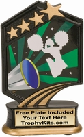 "5.5"" - Cheer Graphic Sport Resin Award"