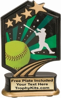 "5.5"" - Softball Graphic Sport Resin Award"