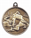 High Relief FOOTBALL Medal