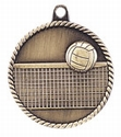 High Relief VOLLEYBALL Medal