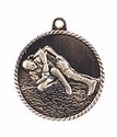 High Relief WRESTLING Medal