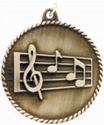 High Relief MUSIC Medal