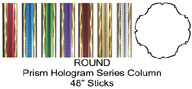 "Round Prism Hologram Trophy Column Full 45"" stick"