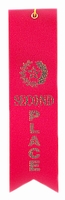 2nd Place Red Award Ribbon with Card