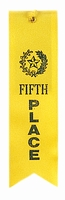 5th Place Yellow Award Ribbon with card