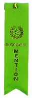 Honorable Mention Award Ribbon with card