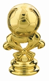"Gold 2 5/8"" Soccer Ball Trophy Trim Piece"