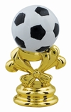 "2 5/8"" Color Soccer Ball Trophy Trim Piece"