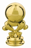 "Gold  2 5/8"" Baseball Trophy Trim Piece"