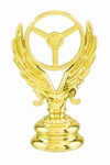 "Gold 2 1/2"" Winged Wheel Trophy Trim Piece"