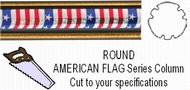 Round American Flag Trophy Column - Cut to Length