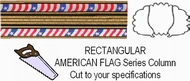 Rectangular American Flag Trophy Column - Cut to Length