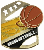 Basketball Cobra Kickstand Gold Award Medal