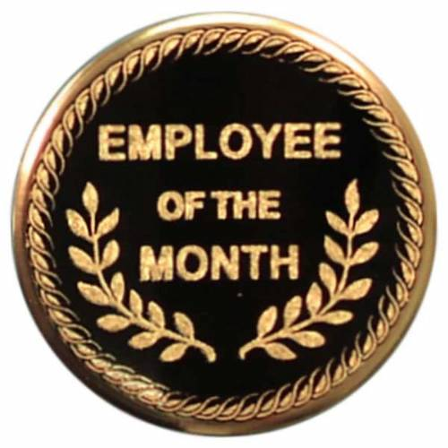 2 employee of the month metal trophy insert