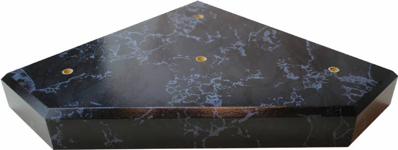 Black Marble Finish Wood 3 Post Trophy Base Only Wood