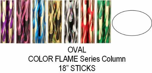 Oval Color Flame Trophy Column Full 18 Quot Stick Color