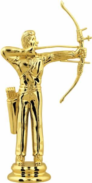 Vintage Gold Metal Female Archery Trophy Topper Figure 6in