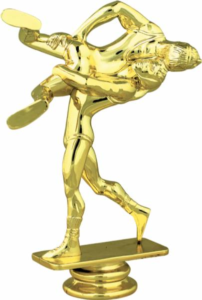 gold 5 2 u0026quot  double wrestler trophy figure