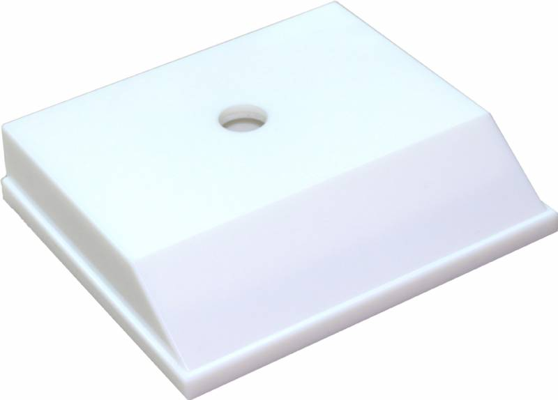 3 x 3 1/2 Weighted Plastic Trophy Base (White)