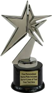 "6 3/4"" Zenith Star Black Pearl Trophy Kit with Pedestal Base Metal"