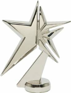 "4 3/4"" Zenith Star Trophy Figure Silver Metal"