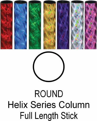 "Round Helix Trophy Column Full 45"" stick"